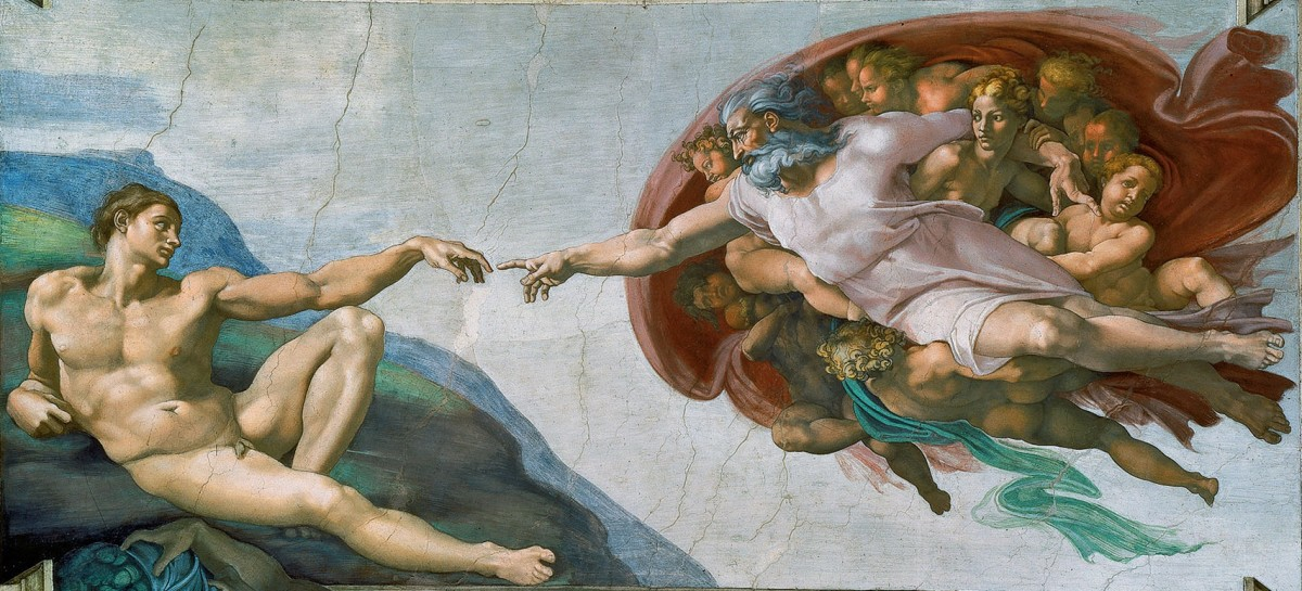 The marvel of Sistine Chapel - The Creation of Adam.