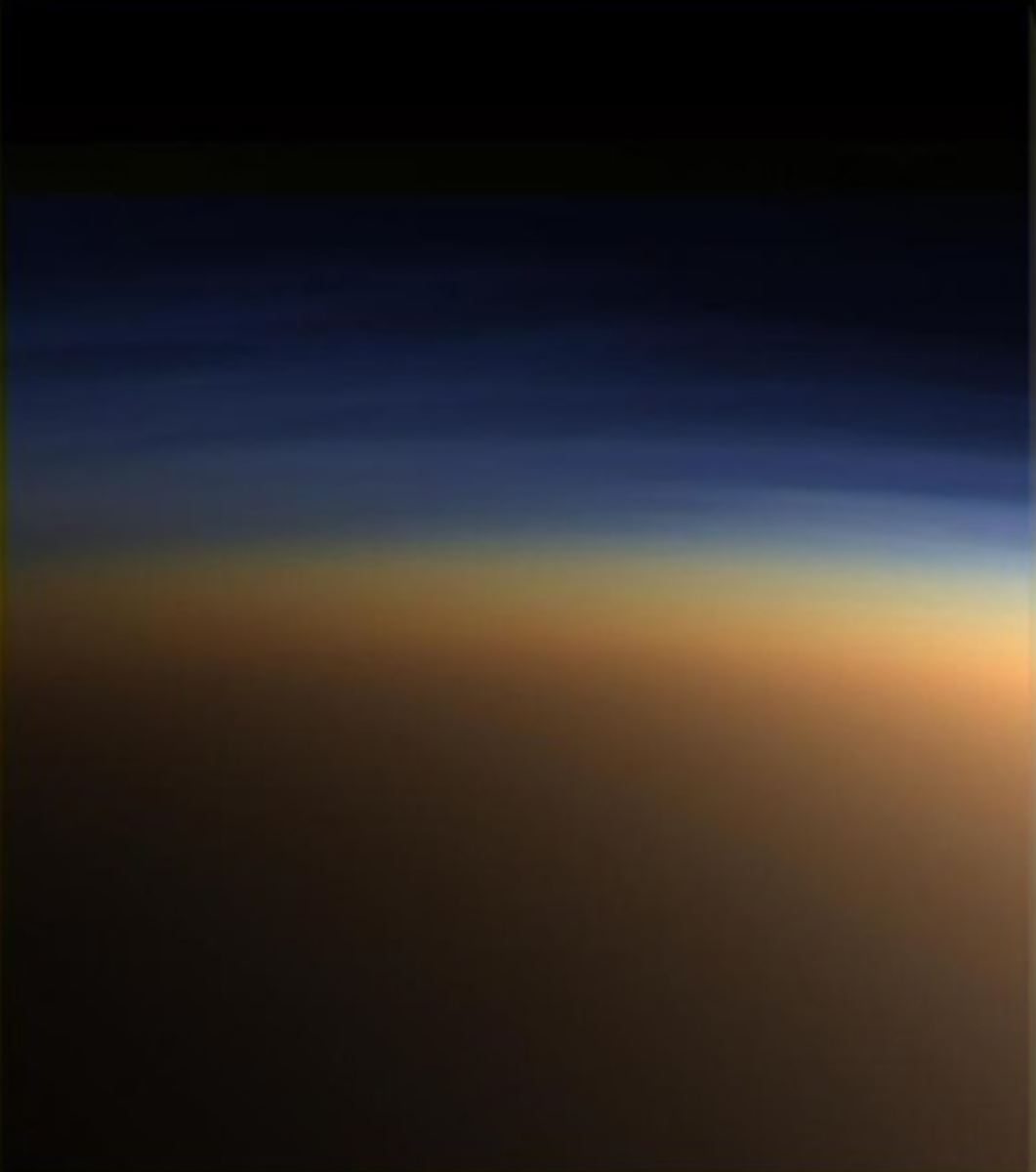 The haze around Titan.