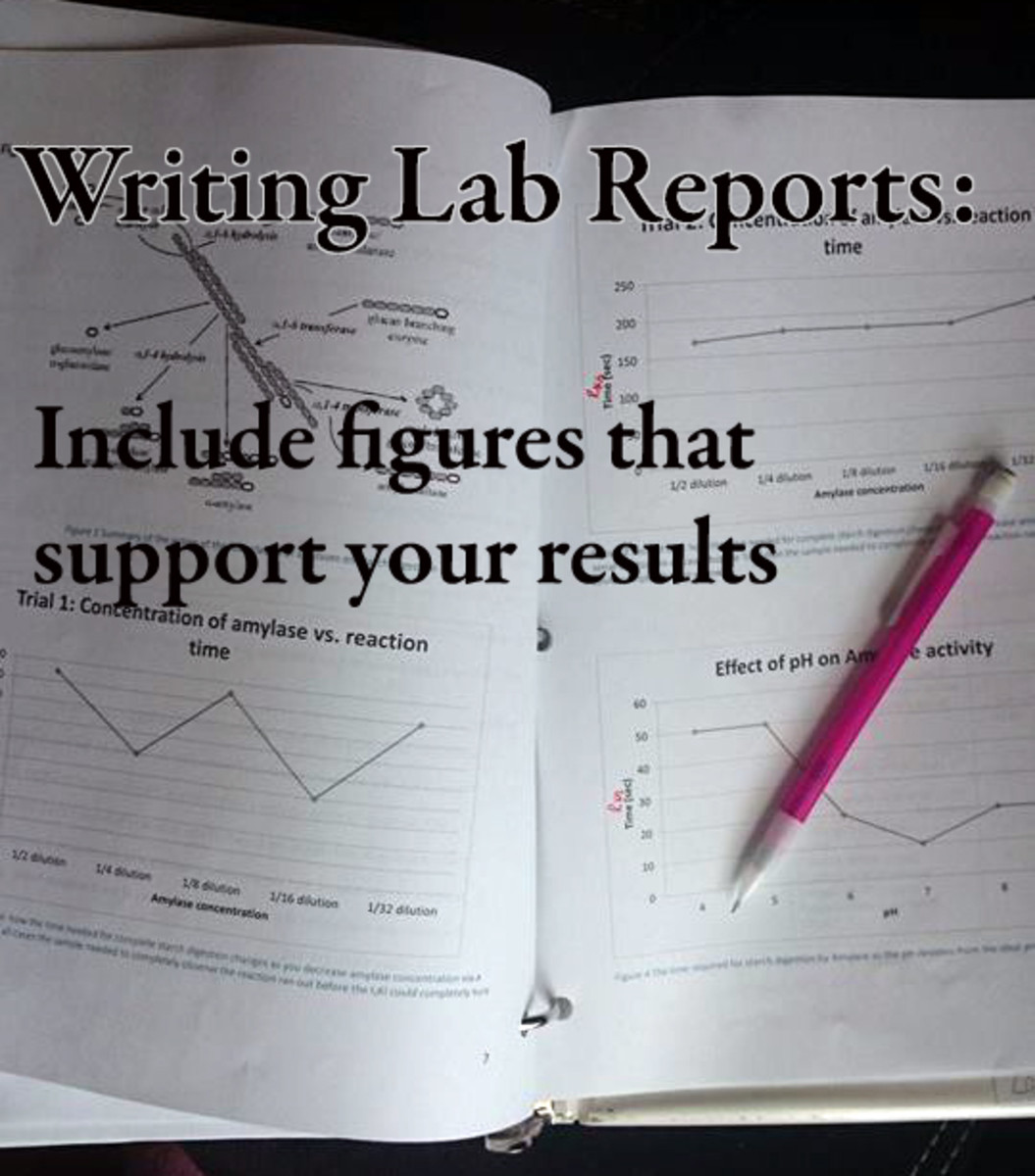 Lab report figures