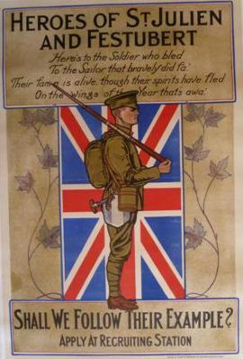 Photograph of WWI recruiting poster