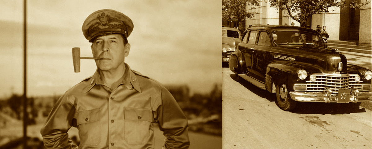 Before his honorable discharge from the army on November 3, 1945; PFC Rodgers had the opportunity to chauffeur General Douglas McArthur.