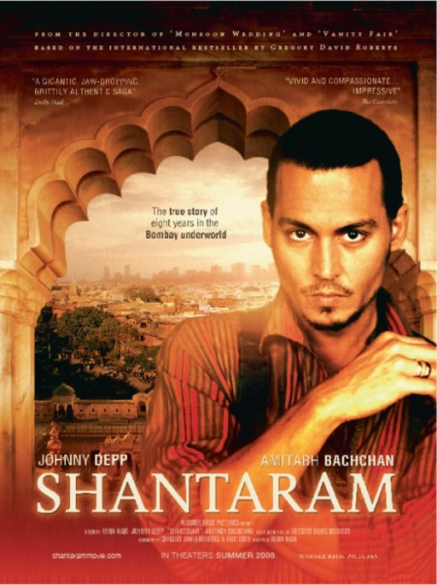 Original poster for the planned Shantaram, which eventually ditched Johnny Depp for reported financial reasons.