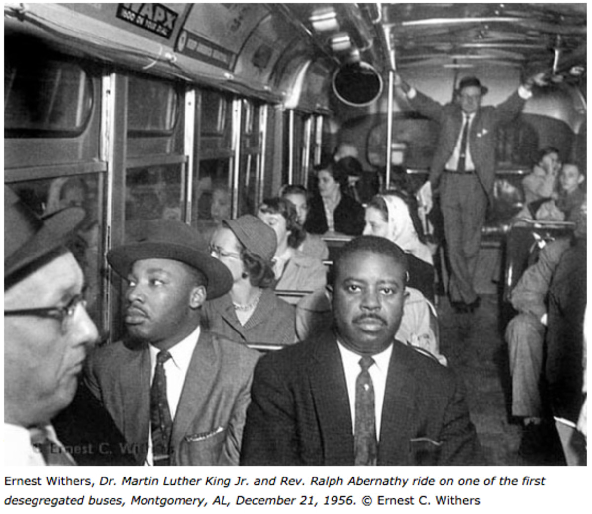 The ending of the Montgomery, AL Bus Boycott was one of the many historic events that Ernest Withers allowed his children to witness.