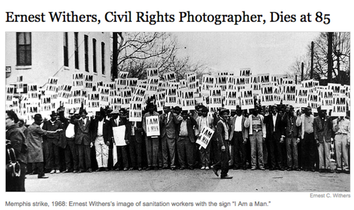 Ernest C. Withers, Sr. documented the Civil Rights Movement and over one million photos of historic significance in his life time.