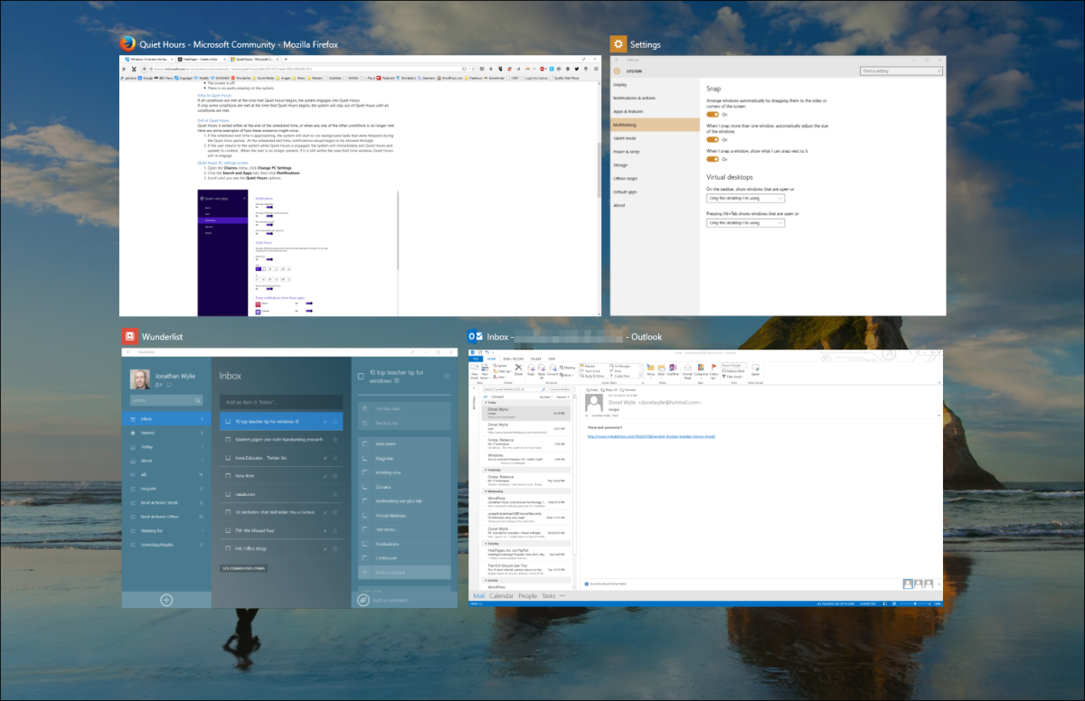 There are three different ways to access Task View in Windows 10