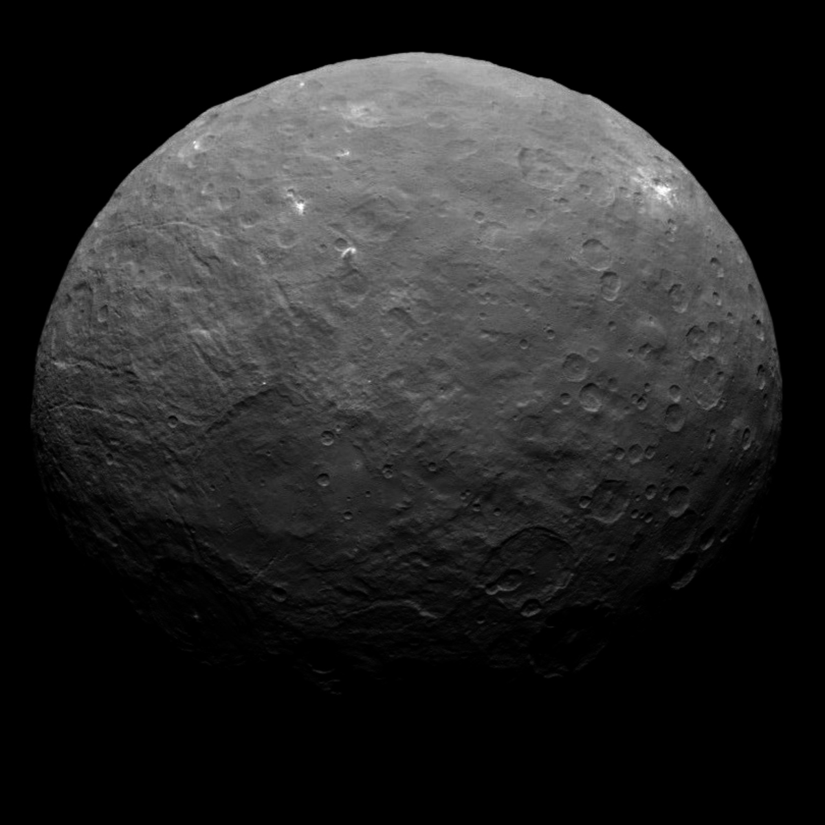 Ceres image tidied by Dr. Lakdawalla. I really wanted to included Ceres, but I couldn't find a natural-color image from Dawn, and Hubble's is small and fuzzy and not true-color.