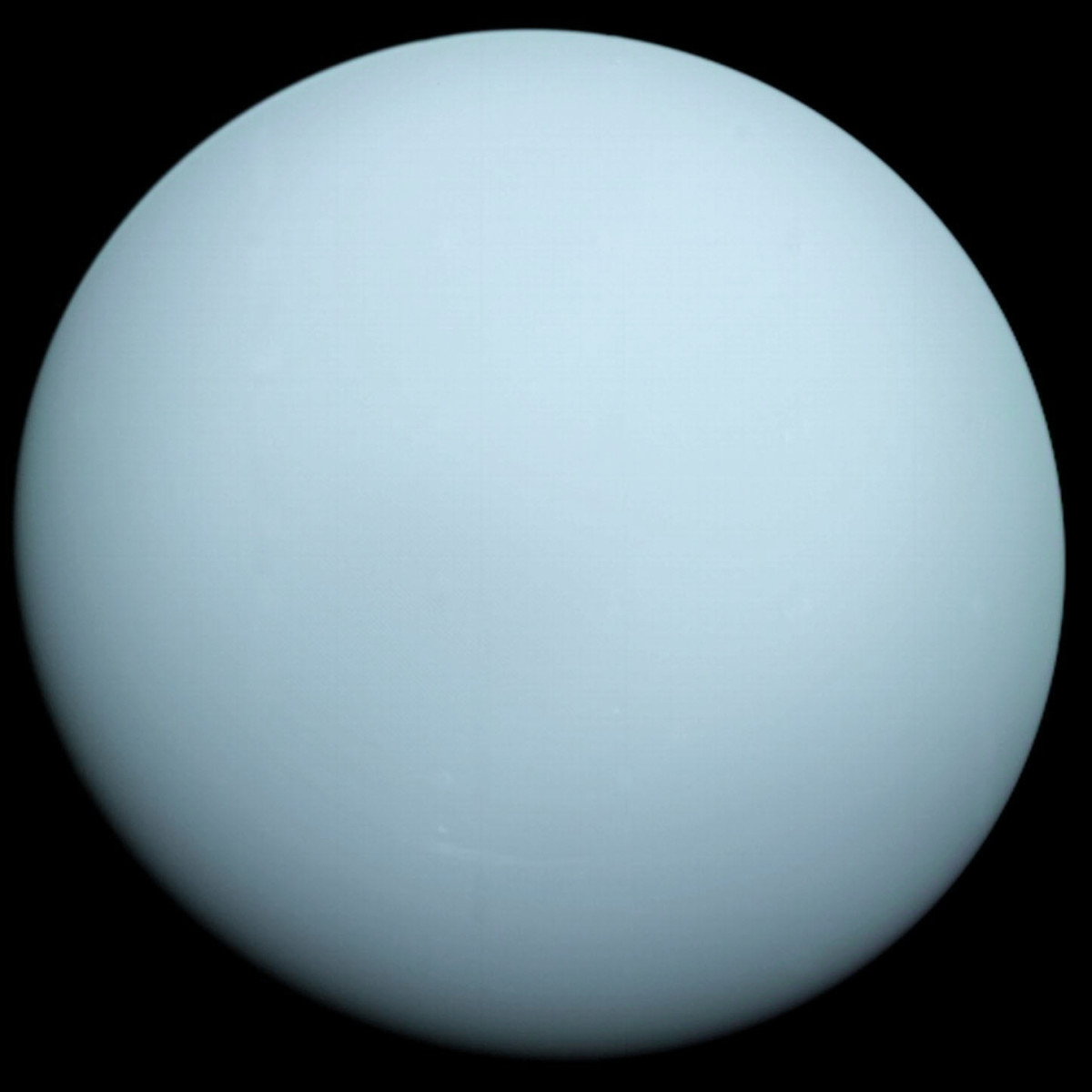 I combined Voyager 2's highest-resolution Uranus photo with the Hue from Hubble.