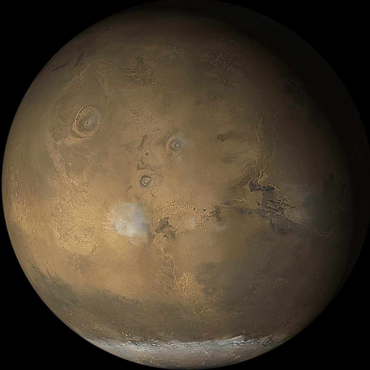 See that page for 6 different MGS views of Mars getting swallowed by a monster dust storm.