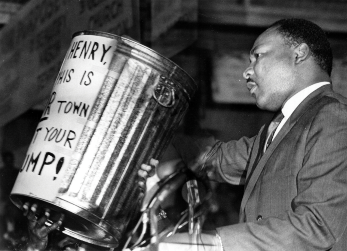 Dr. Martin Luther King Jr. was in Memphis during the sanitation workers strike in March 1968.