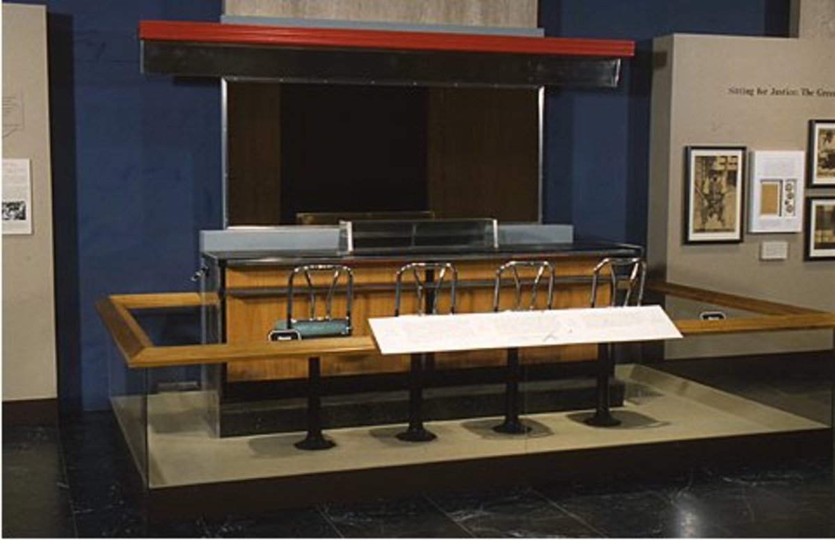 This Woolworth lunch counter is typical of where many 1960 sit-ins took place.