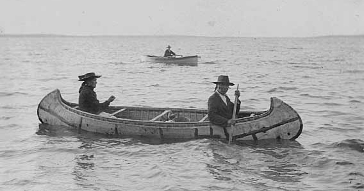 In the past, the birch bark canoe was frequently used by Native Americans for transport and commerce.