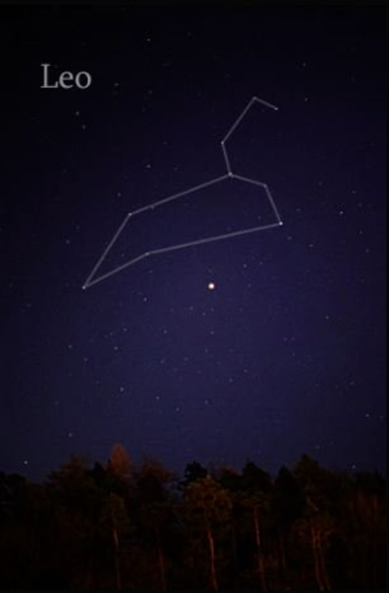 Constellation Picture of Leo - The Lion