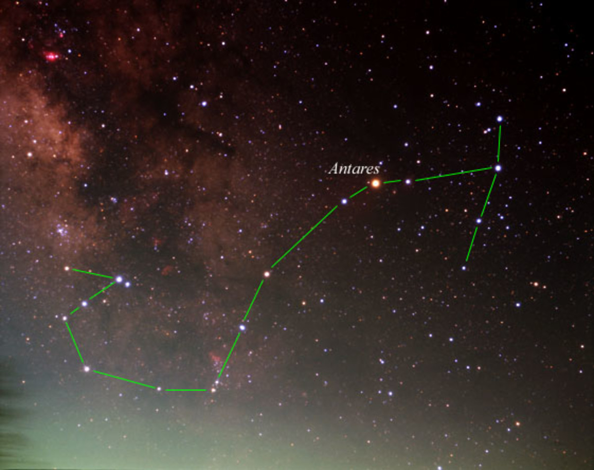Constellation Picture of Scorpius - The Scorpion