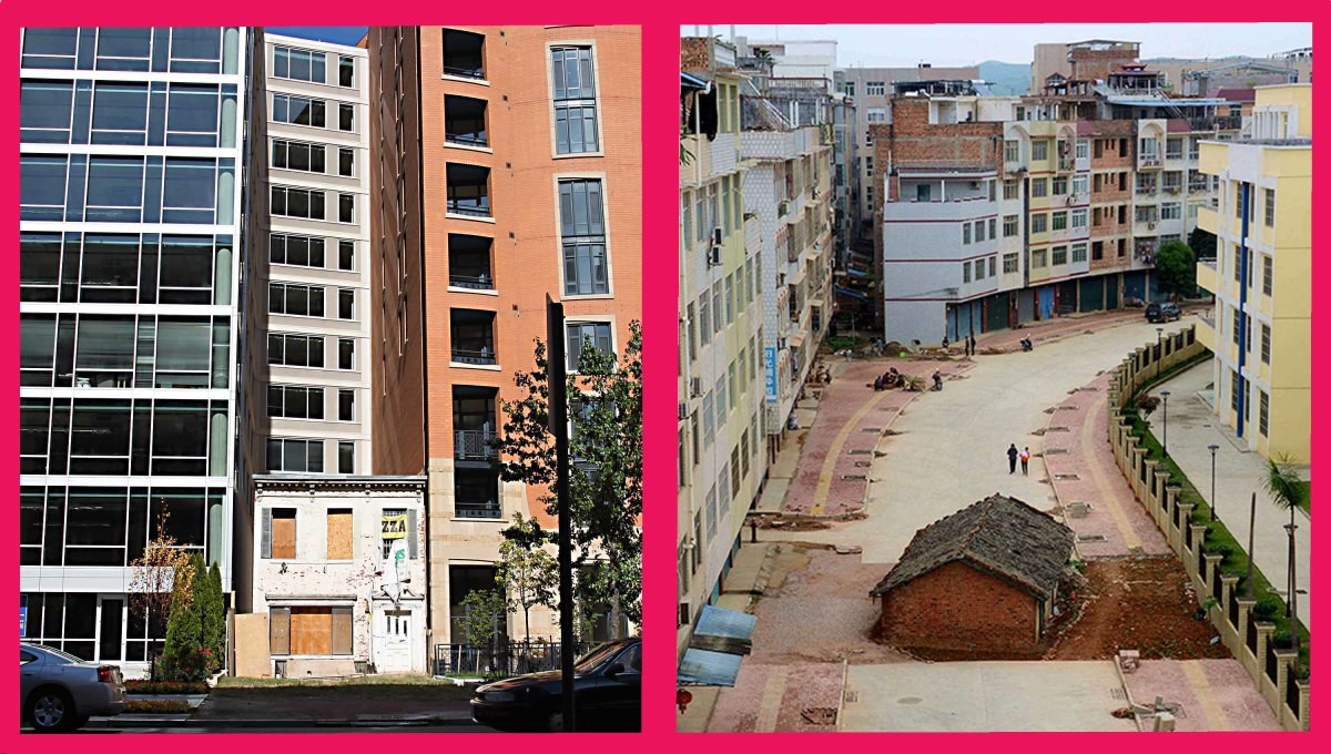 A holdout against American developers, and a nail house against Chinese developers. Different countries, but similar issues