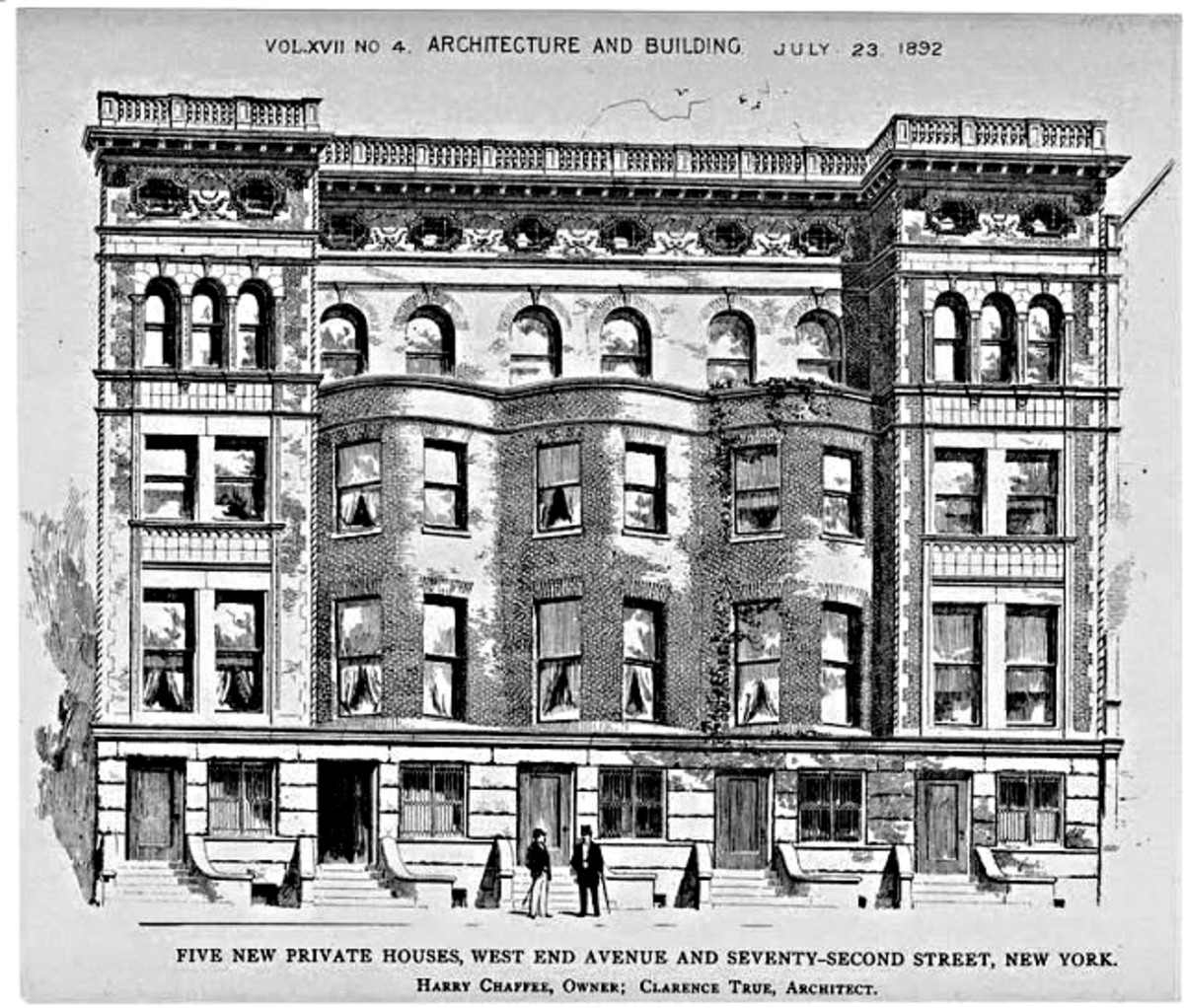 An 1892 sketch showing the original West Avenue building in all its glory before the big redevelopment, when four-fifths of the building was demolished.