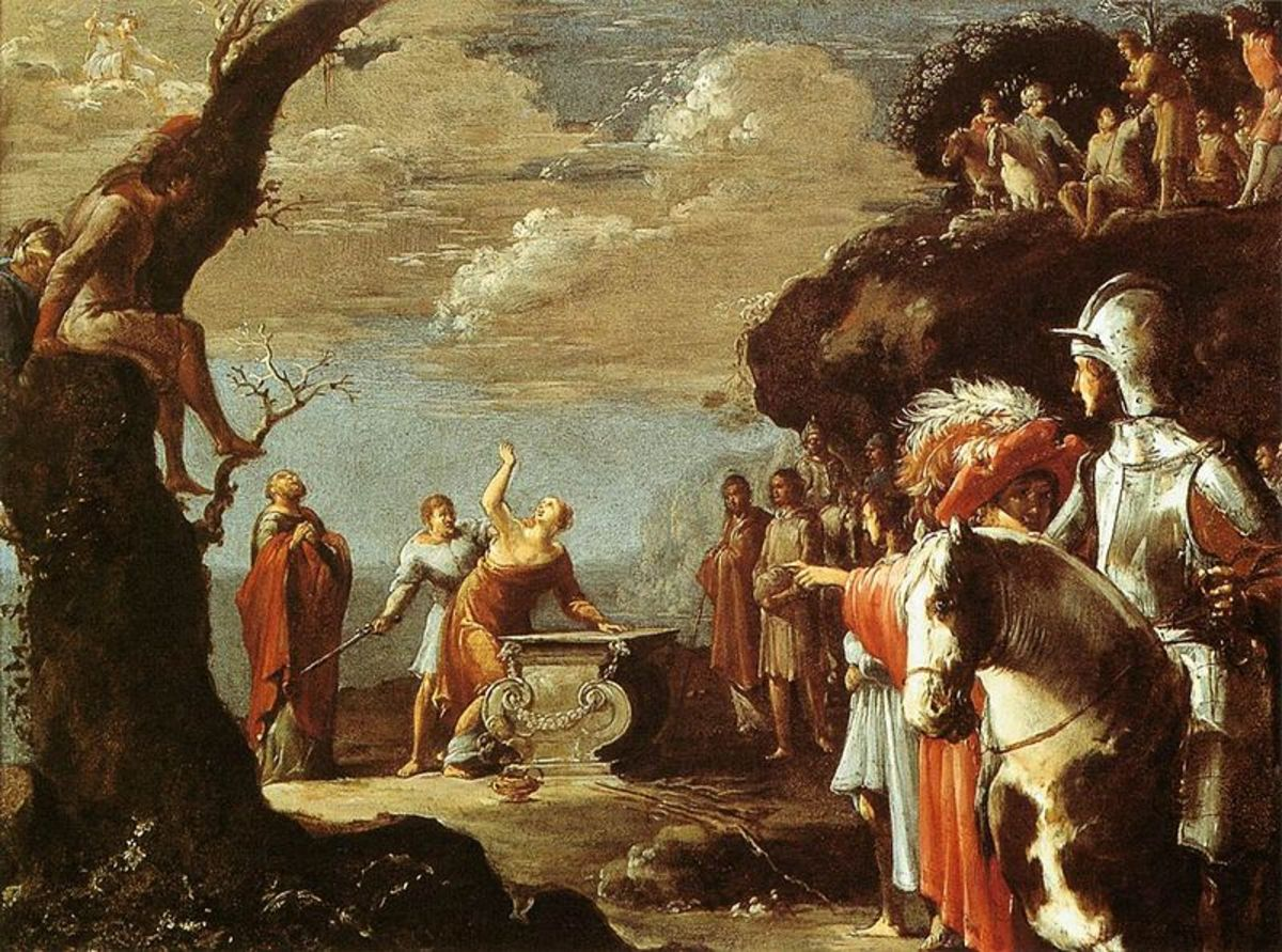 The Sacrifice of Iphigenia - Leonaert Bramer (1596–1674) - PD-art-100
