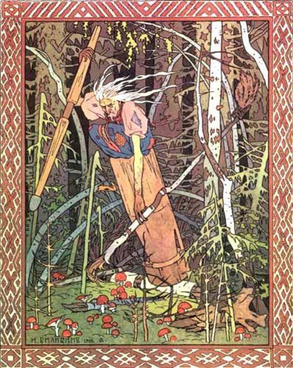 Baba Yaga by Ivan Bilibin, 1900