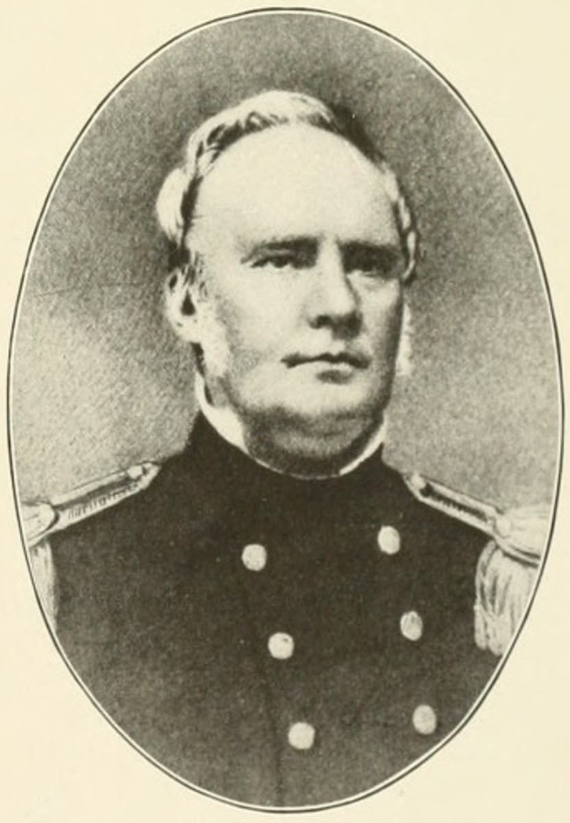 Confederate General Sterling Price (photographed in his U.S. uniform before the war)