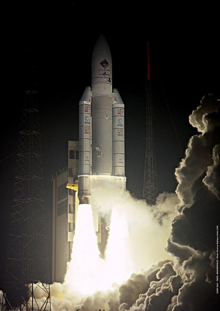 Rosetta lifts off!