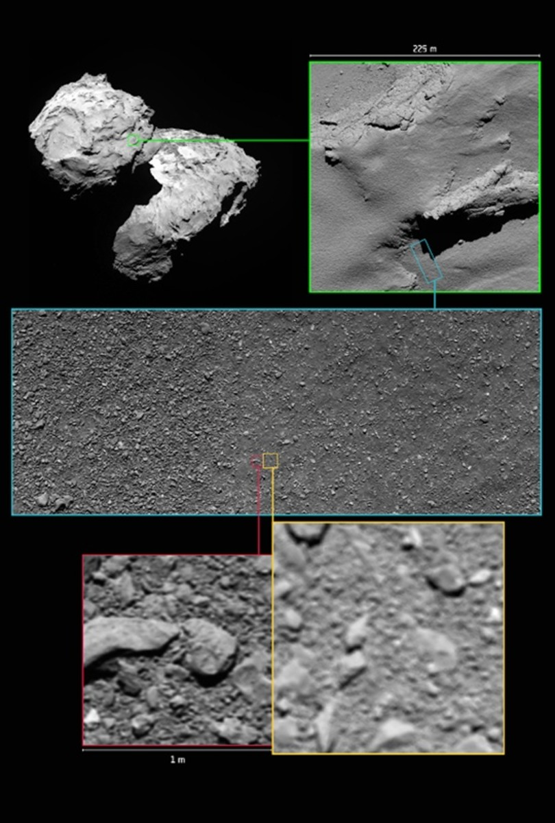 The final images of 67P taken by Rosetta.
