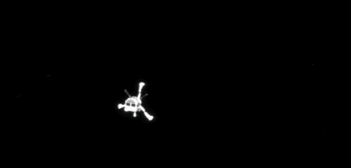 Philae descending...