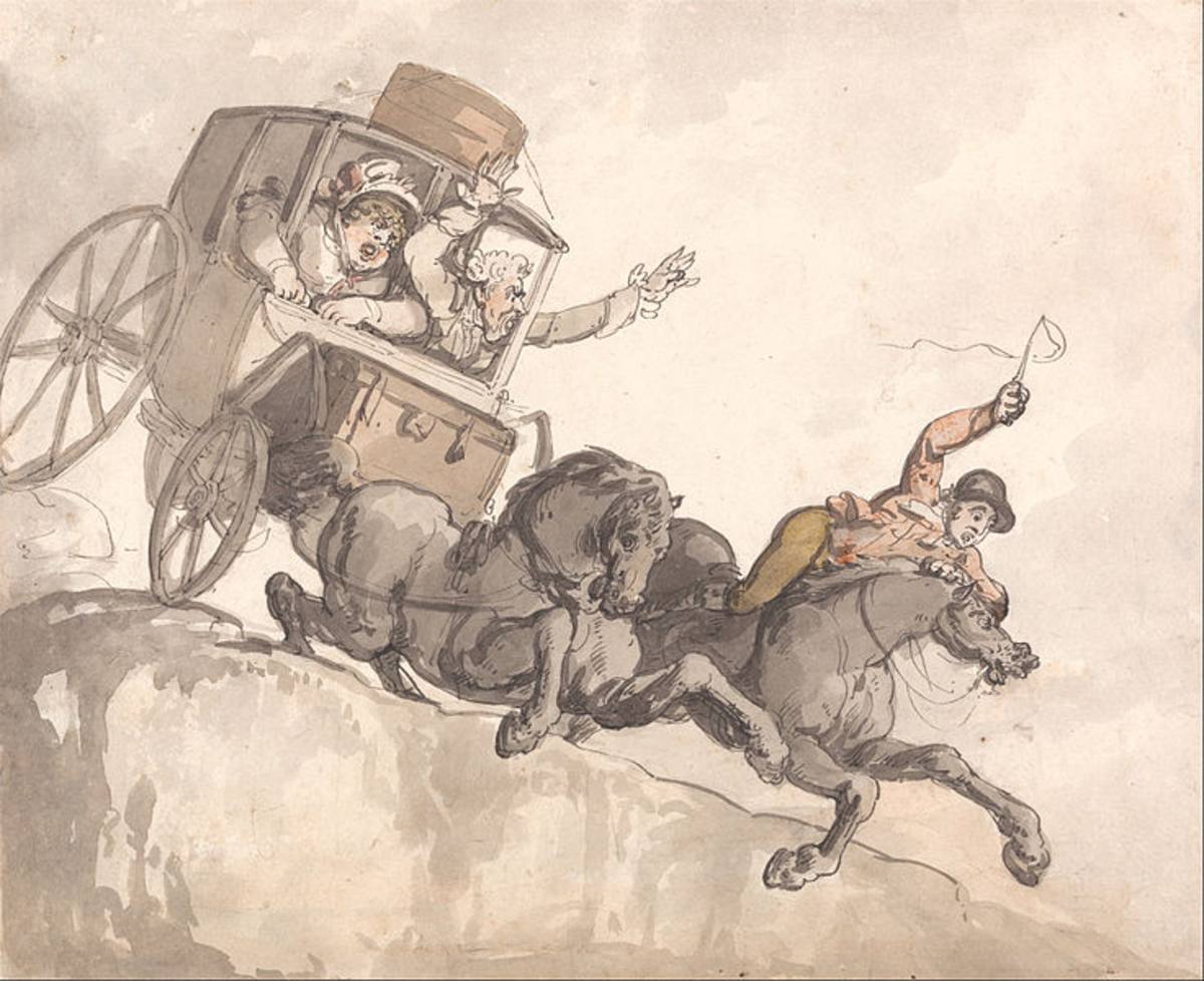 The Runaway Coach Thomas Rowlandson
