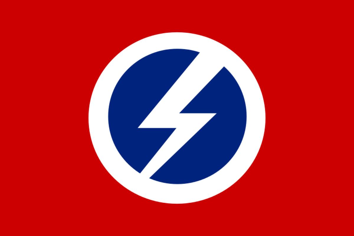 The British Union of Fascists flag.
