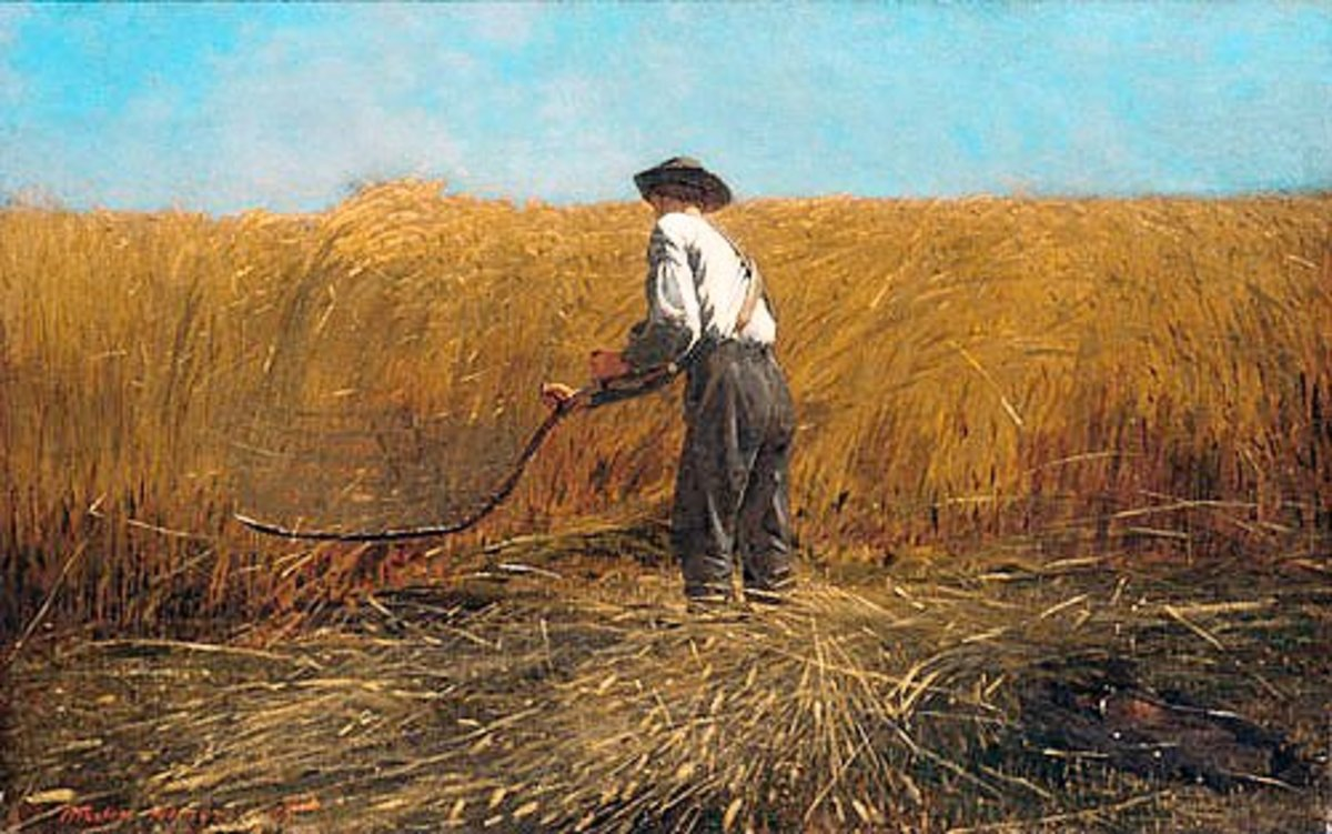 """The Veteran in a New Field"" by Winslow Homer."