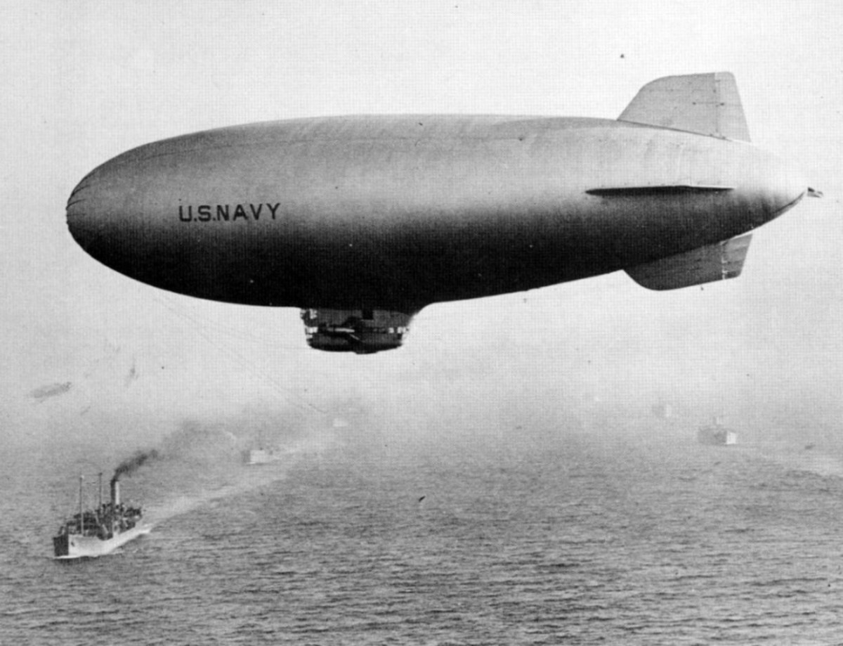 WW2: US Navy K-class airship on convoy duty.