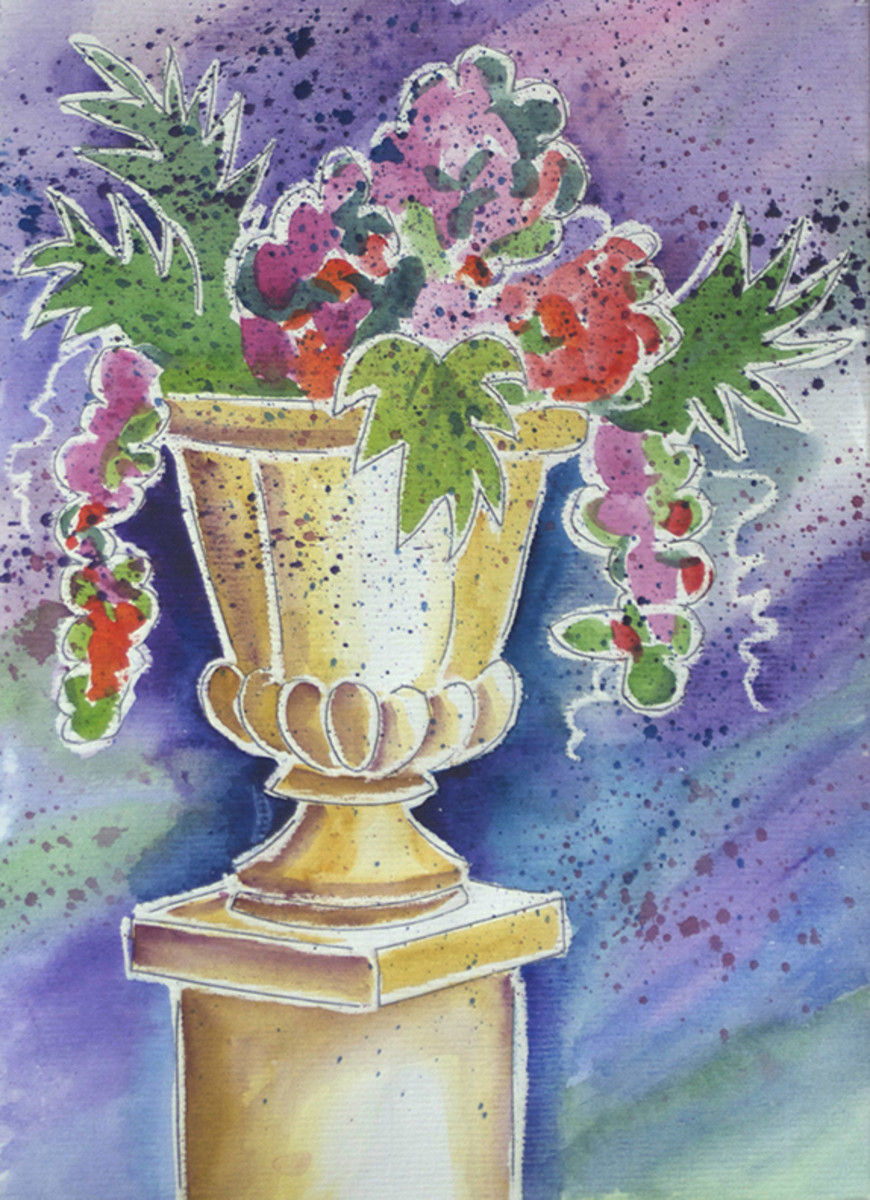 One of our watercolor paintings.