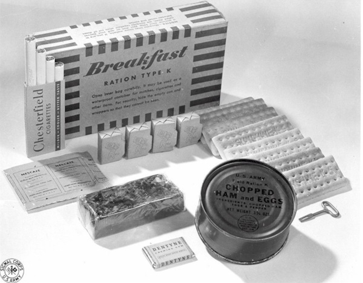 K-rations included an essential nutritional supplement - Chesterfield cigarettes.