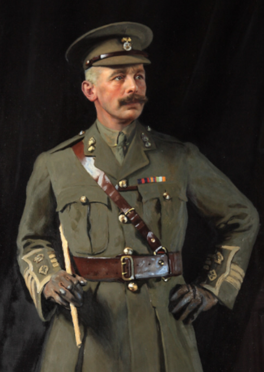 Portrait of Lt. Col. Throckmorton, housed in Coughton Court.