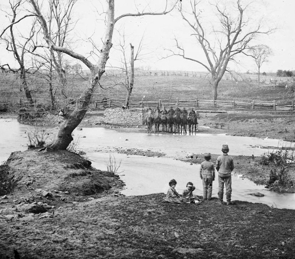 Union Cavalry of Sudley Spring Ford.