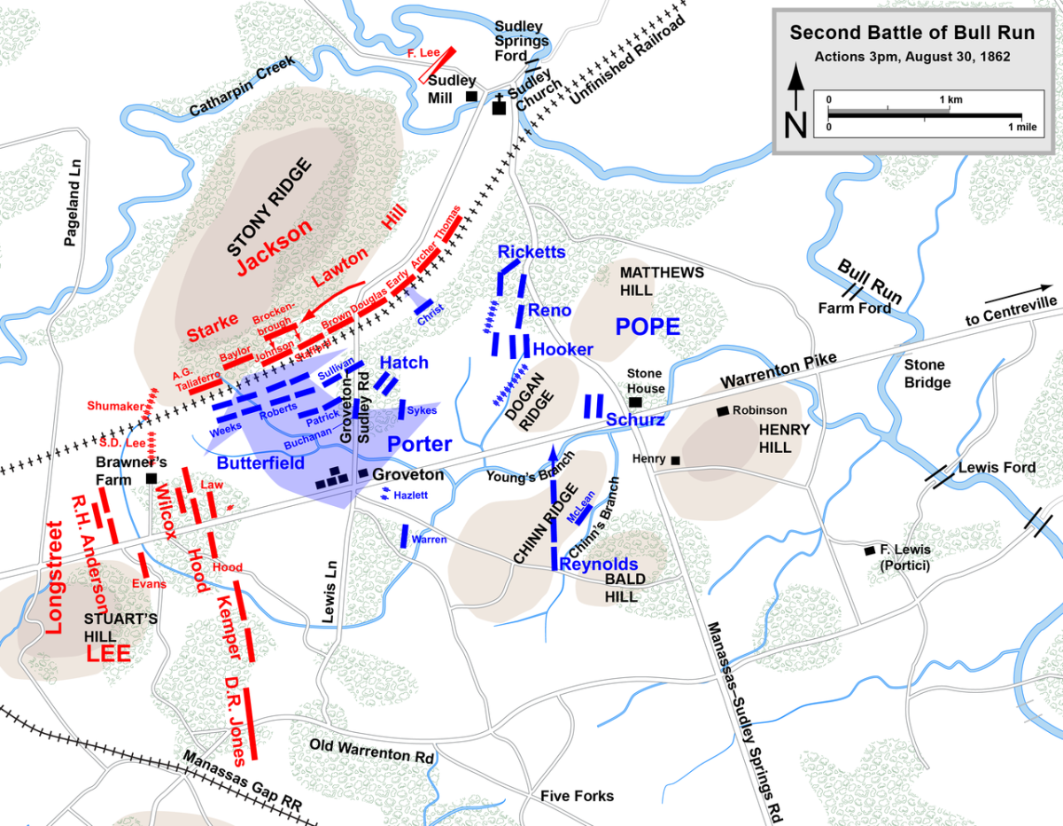 August 30, 3 p.m., Porter's attack.