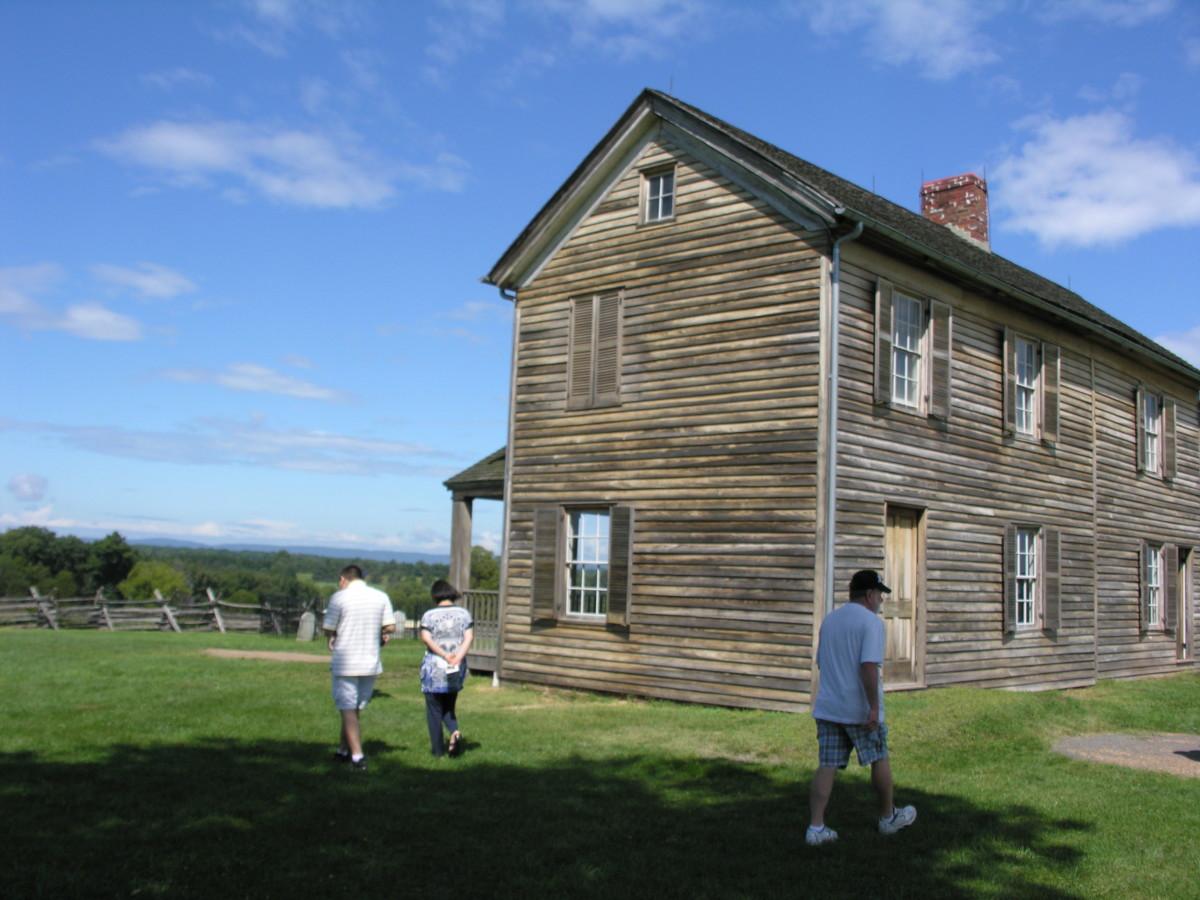 A rebuilt Judith Henry house.