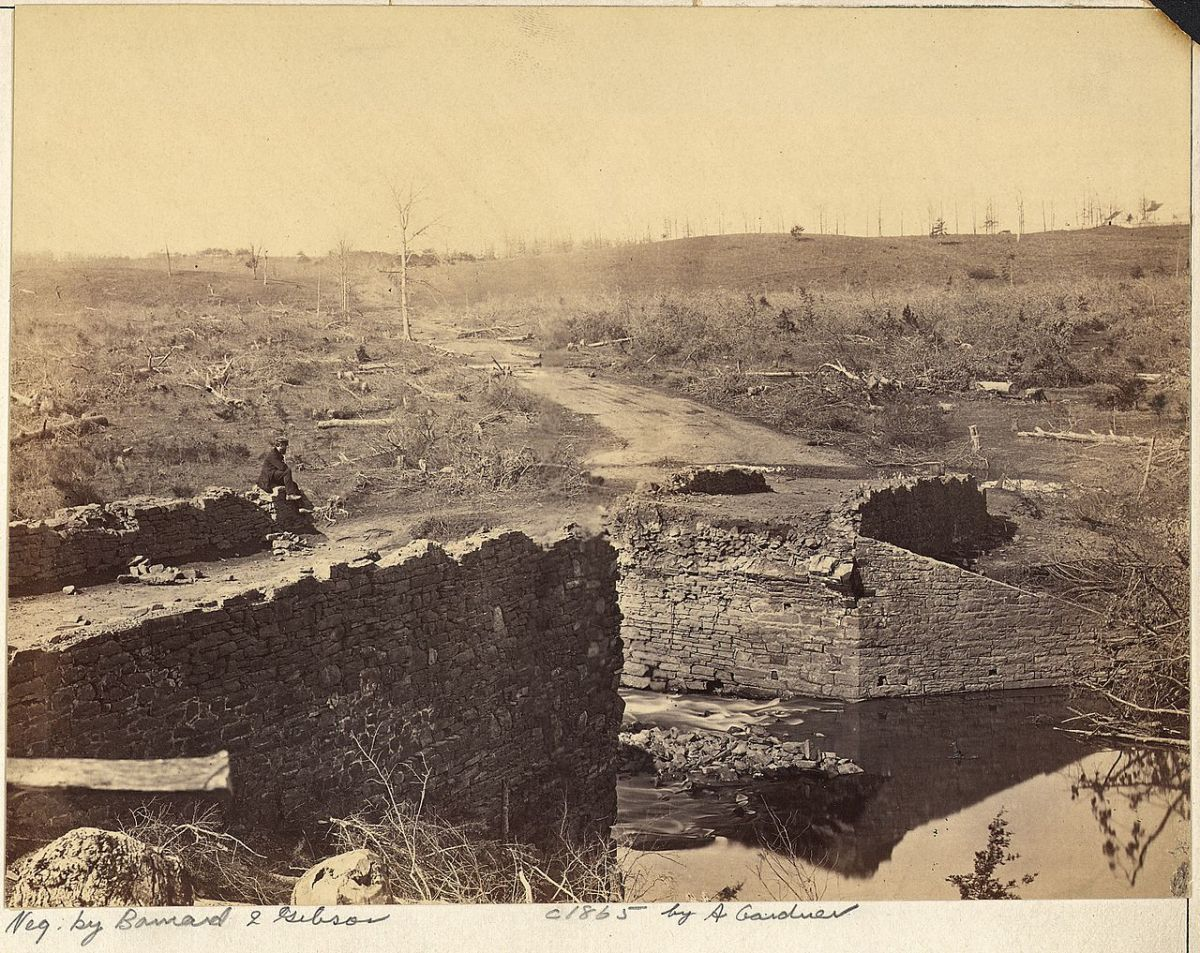 Remains of the Stone Bridge after the battle.