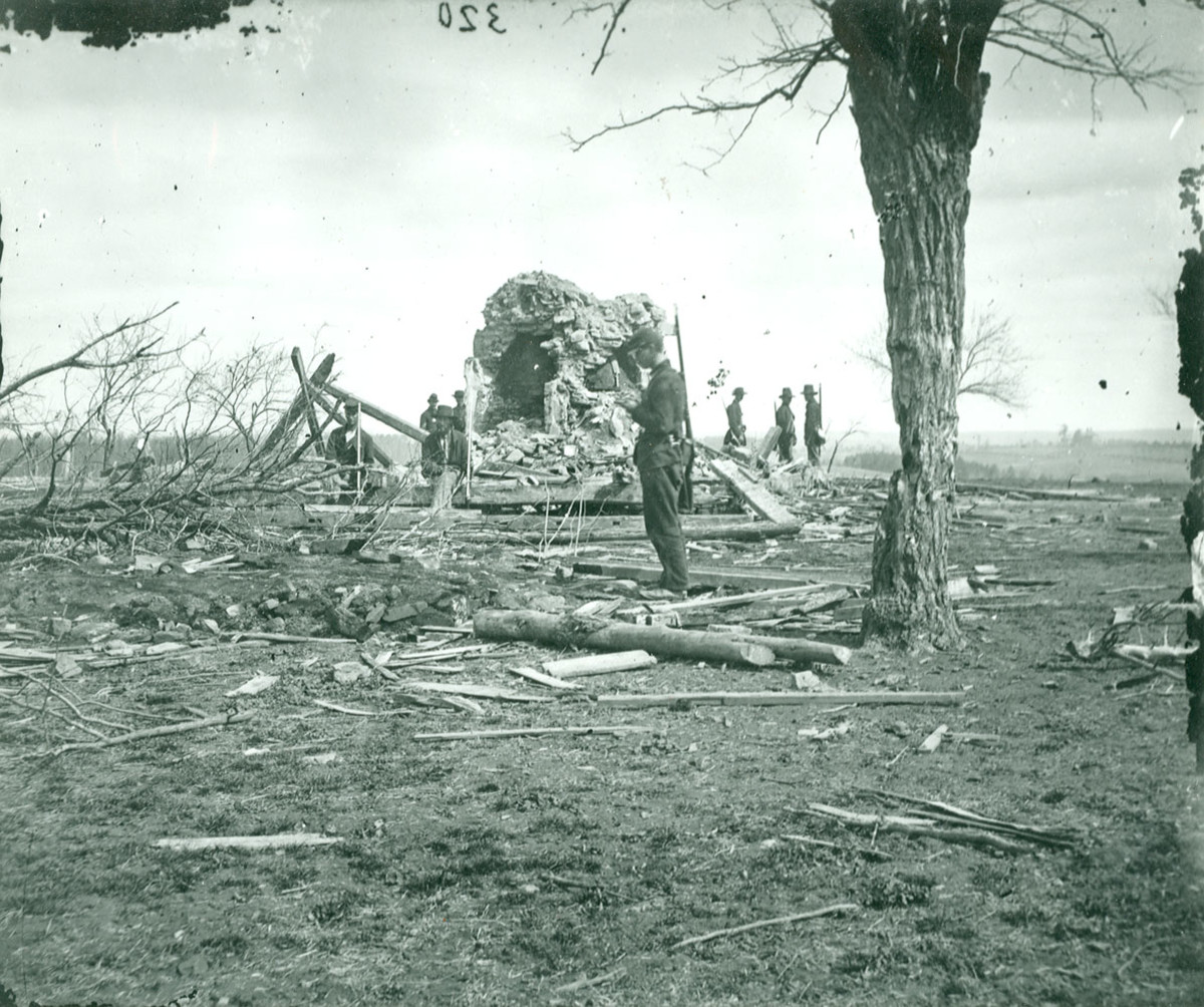 Remains of the Henry house after the battle.