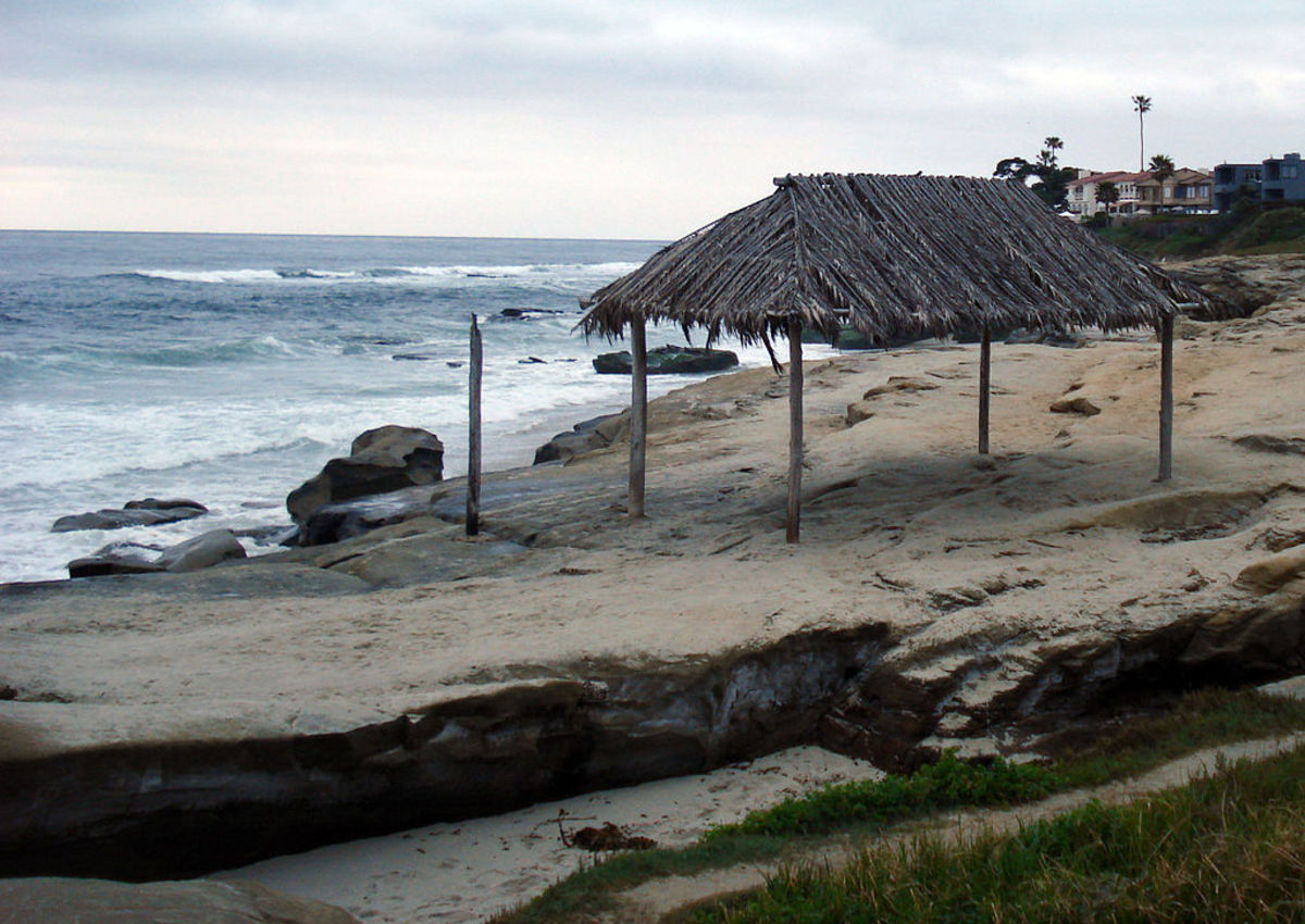 Windansea Beach, La Jolla, headquarters of the legendary Mac Meda Pumphouse Gang.