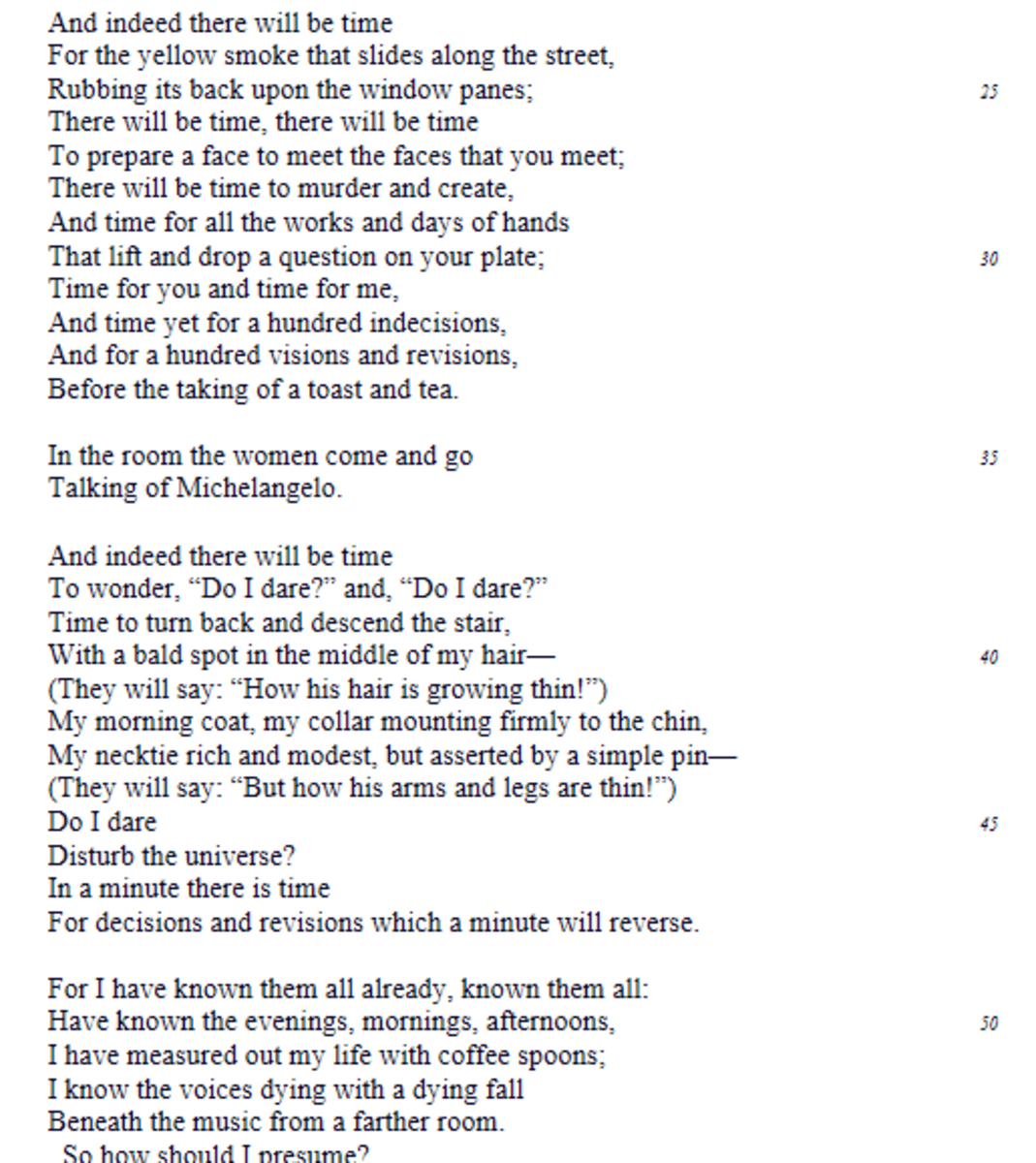 the love song of j. alfred prufrock annotated