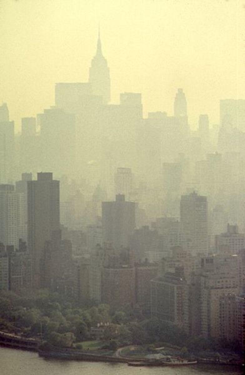 Smog on Manhattan