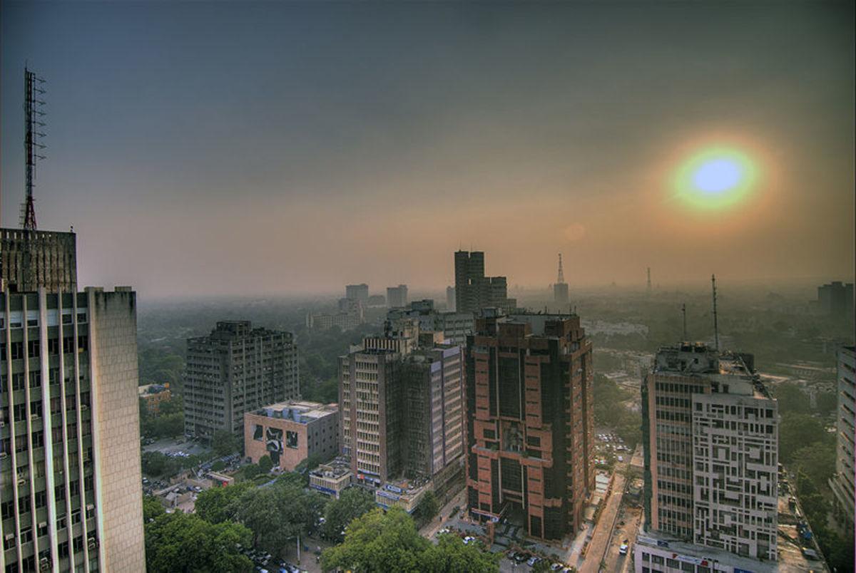 Polluted air in Delhi