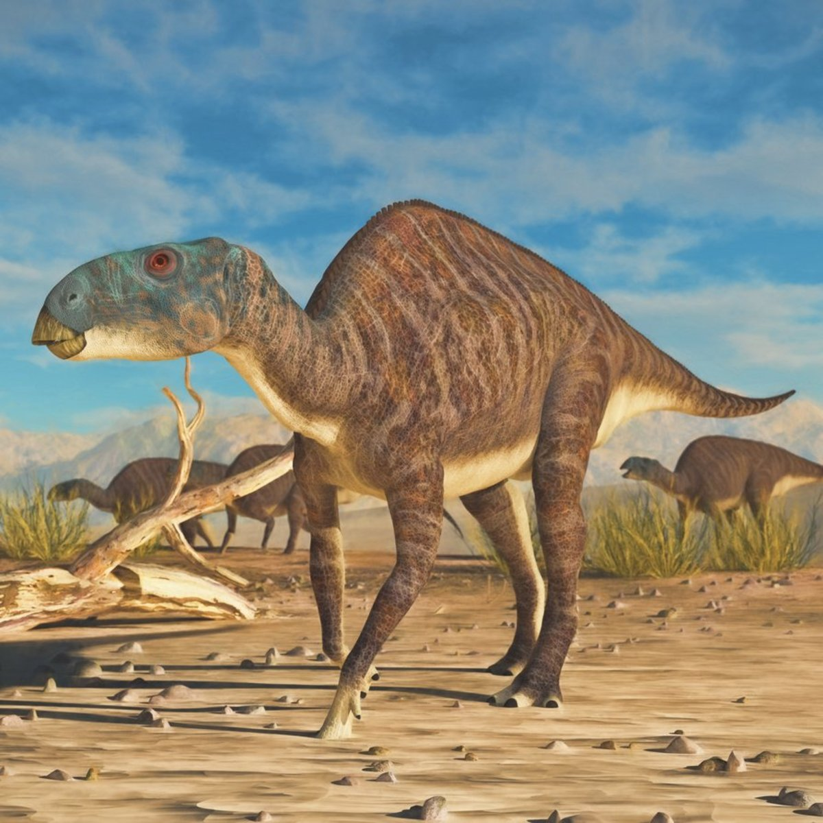 Eotrachodon herd, by James Kuether.