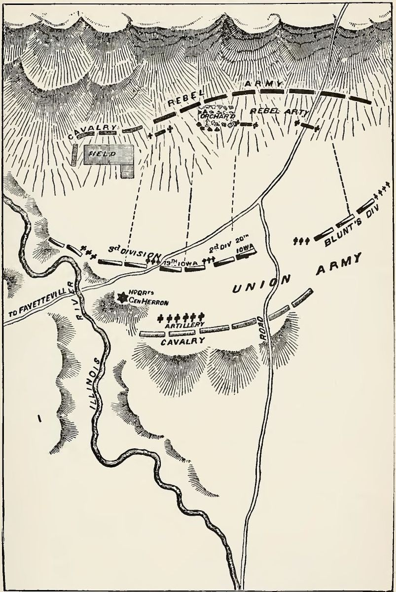 Hindman had hoped he could draw the Union troops in at Prairie Grove. If Blunt's Kansas Division hadn't shown up at a critical point in the battle Herron's worn out Missouri Divisions might have been defeated.