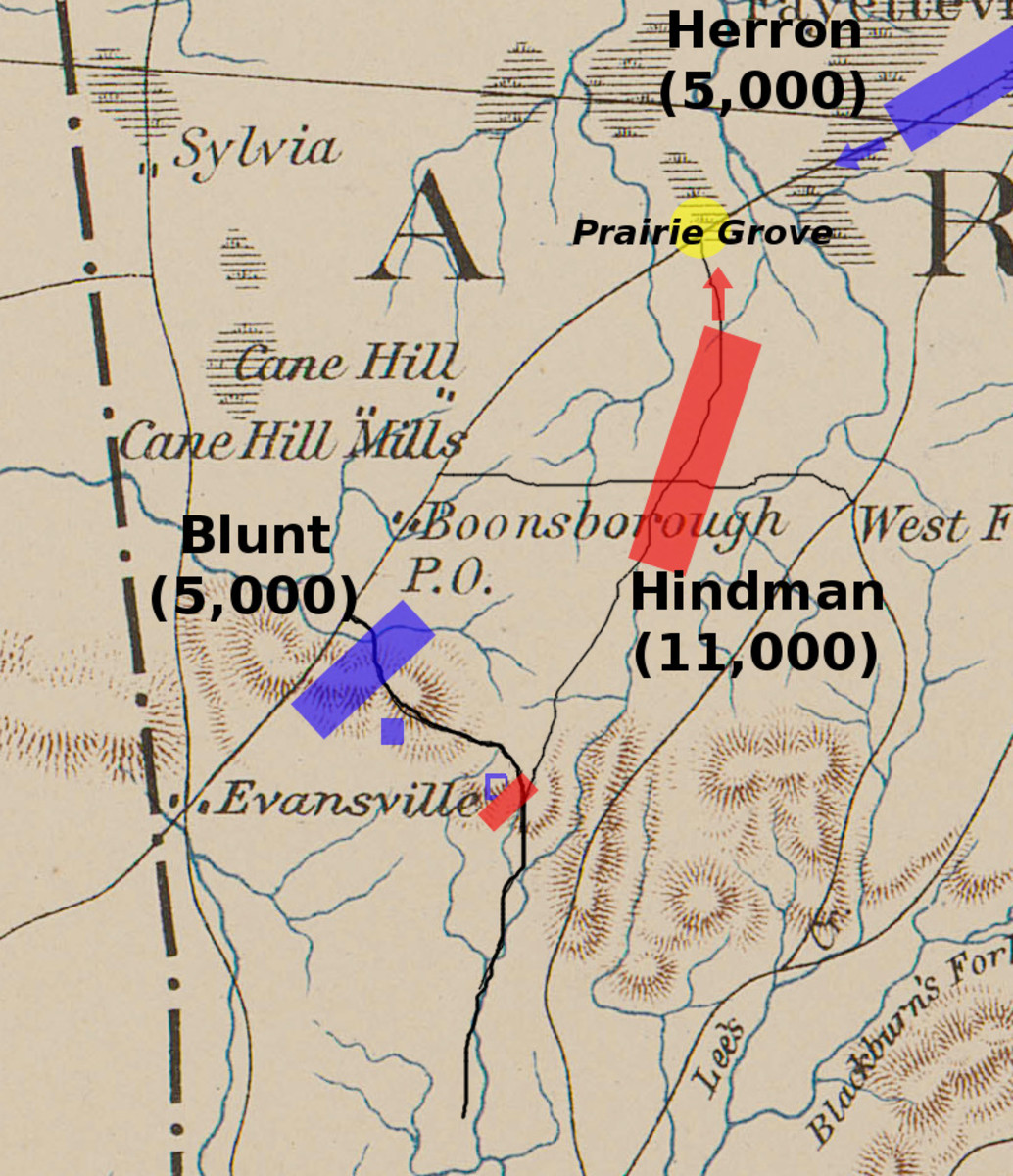 Battle Map of Prairie Grove