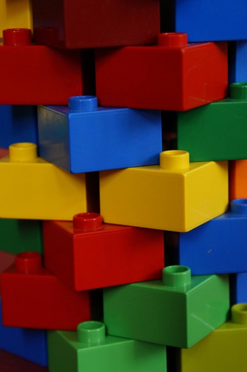 Aligned lego blocks