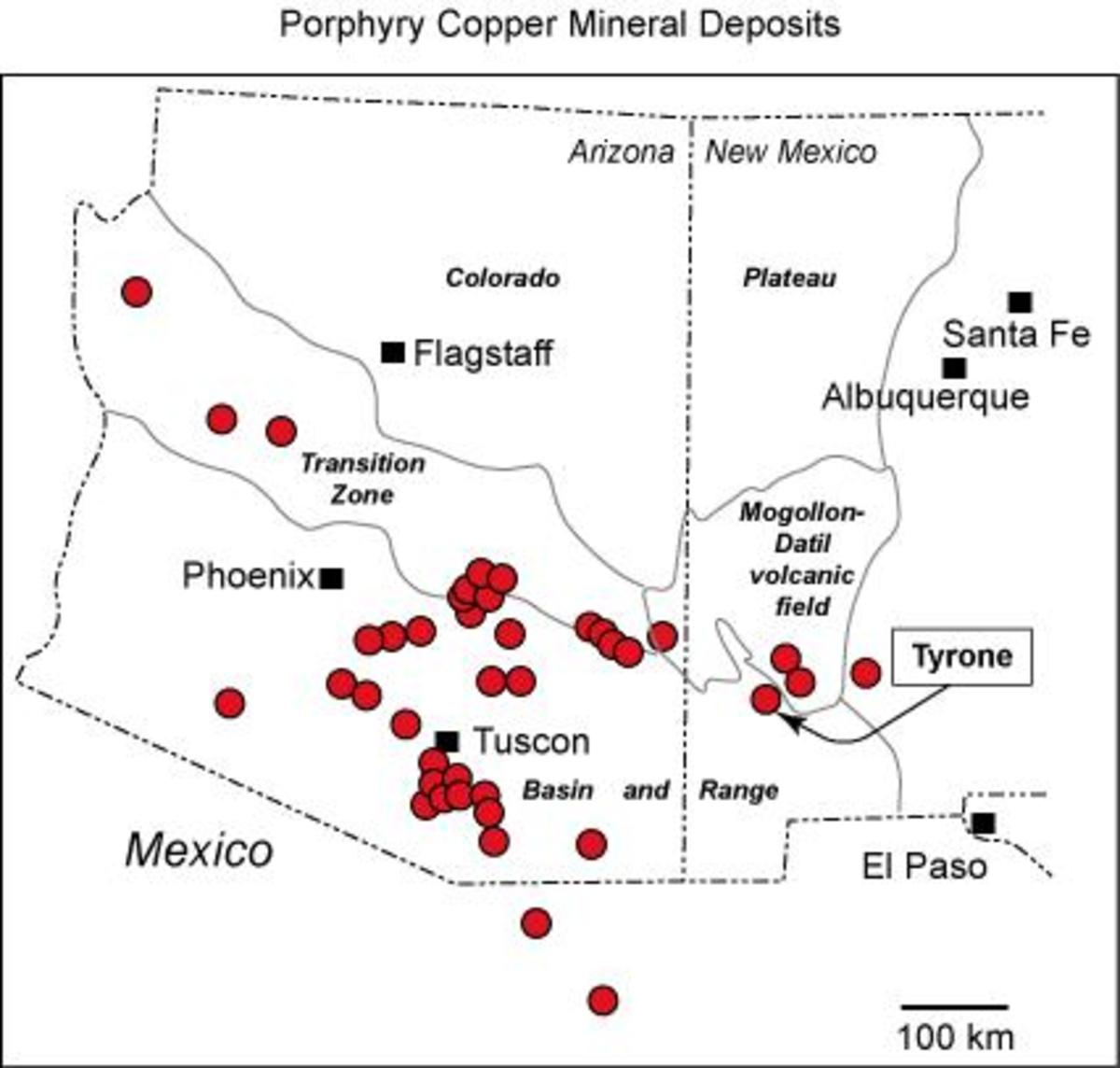 Where there is porphyry and copper mining, there is almost always gold and silver. Silver is the third most important mineral mined in Arizona by value.