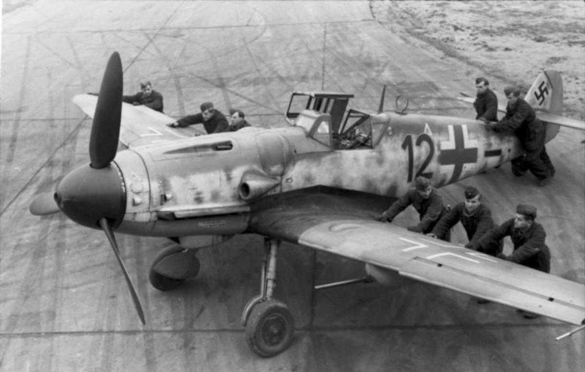 Messerschmitt BF109 ready for take-off armed with 20mm cannons it was one of the most deadly planes in the skies.