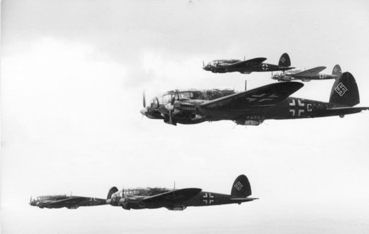 German bombers on the way to bomb a key target in the Soviet Union,