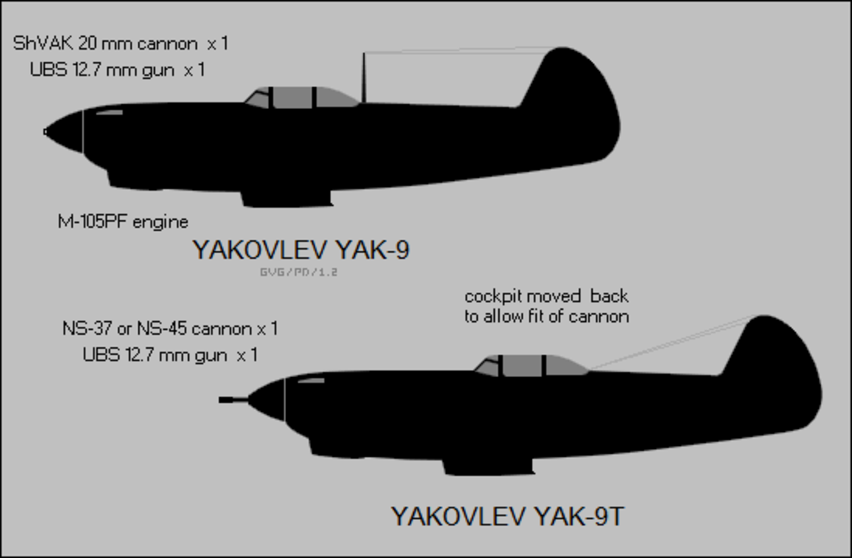 The Yak-9 silhouette prints