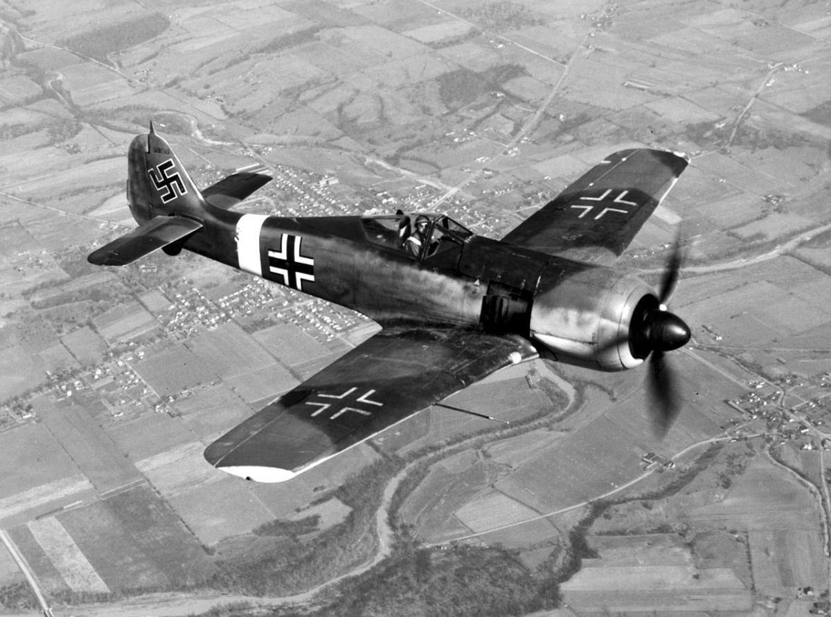 The Focke-Wulf 190 was built to replace the Me109 but proved to be a better fighter bomber and night fighter.